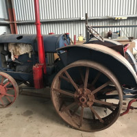 W30 Tractor with saw bench (Part restored)