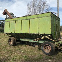 Homemade chaser bin with Goddard Auger